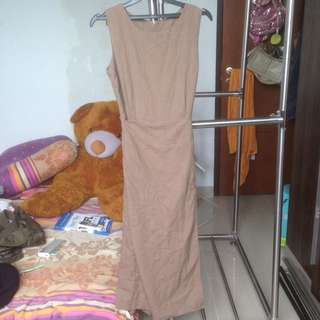 Brown jumpsuit 2style