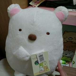 🚚 超大隻角落生物 白熊玩偶娃娃