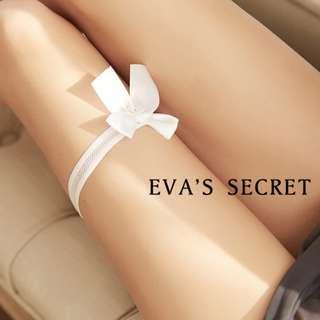 夏娃的祕密 開站精選 蝴蝶結腿圈 交換禮物小配件