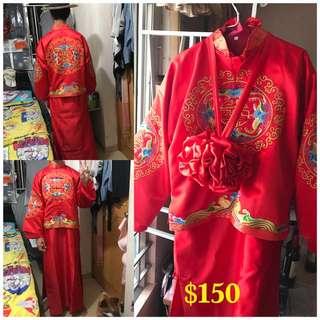 中式男裝秀禾服唐裝結婚