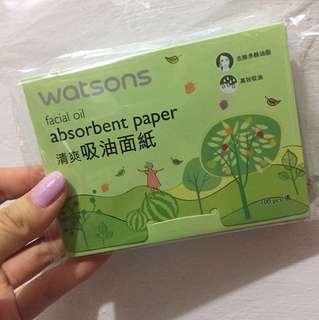 🚚 吸油面紙