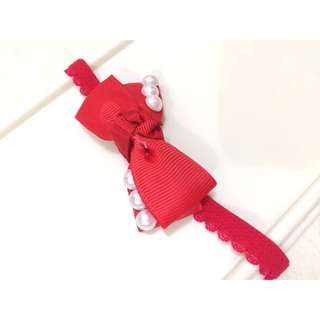 Headband Red Pearl