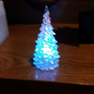 Mini Glowing Christmas Tree