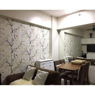 2 BEDROOM - BEST AMAZING OFFER – FULLY FURNISHED UNIT WITH PARKING AT SUNTRUST TREETOP VILLAS – MANDALUYONG NEAR MAKATI