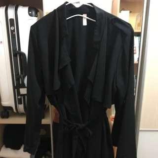 🚚 質感雪紡風衣造型綁帶外套