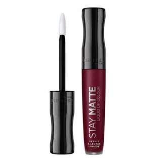 Bn rimmel #810 stay matte liquid lip color plum this show