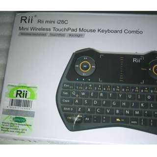 Rii Mini Wireless Touchpad Mouse Keyboard (2.4GHz USB receiver type)