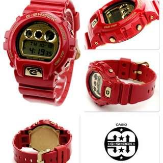 ++ G-SHOCK 30週年 強悍精神紀念限定錶-DW-6930A-4 DW-6930 DW-6900 CASIO 限定 紅色 金字