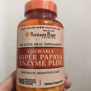 CHEW SUPER PAPAYA ENZYME PLUS 青木瓜嘴嚼片 180粒