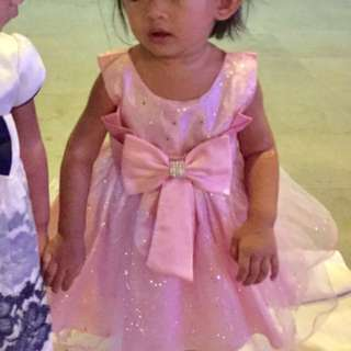 Baby Pink Dress/Gown (Glittery)