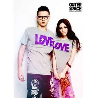 🚚 Outerspace LOVE太空情人T 灰X紫 限定版-S