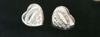 Tiffany & Co Inspired heart stud earrings