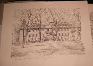 Four Sketches of Colonial Williamsburg