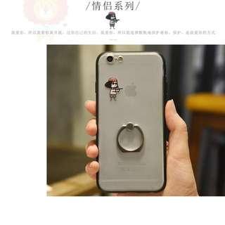 🚚 iphone6s 手機殼 帶支架 壞女孩圖案 網紅 原創 個性創意 3折 蘋果 磨砂硬殼 支架指環 TPU邊框 防摔耐用 #運費我來出 #含運最划算