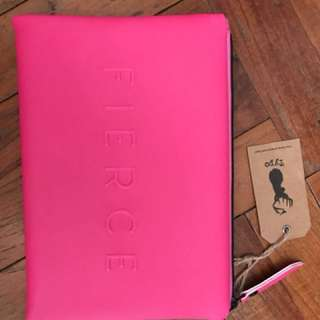"BN Hot Pink ""Fierce"" Pencil Case from TYPO"
