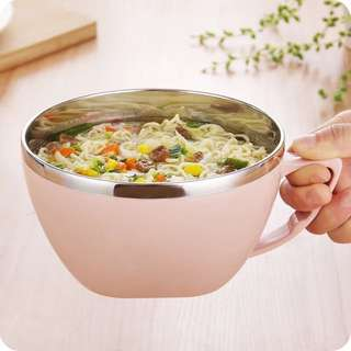 Stainless steel soup cup with lid