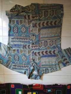 Blue Pattern Tshirt
