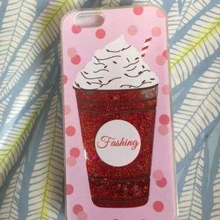 Iphone6 4.7吋手機殼 時尚流沙冰淇淋 全新未使用