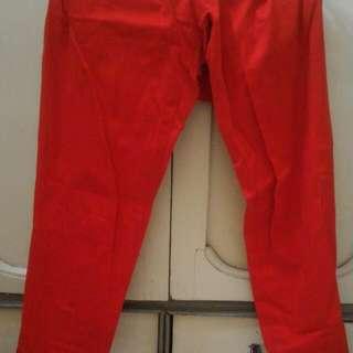 Celana Panjang Merah