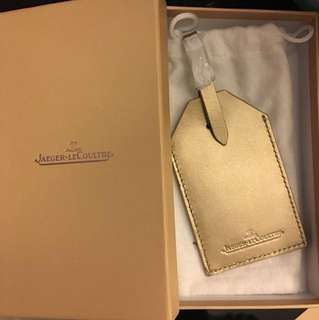 Jaeger LeCoultre積架行李牌baggage tag -金色