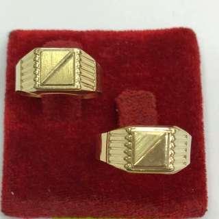 18K Saudi Gold men's ring