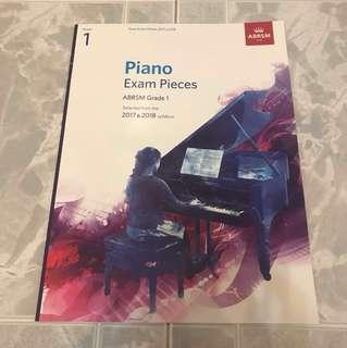 ABRSM piano exam pieces grade 1 2017/2018