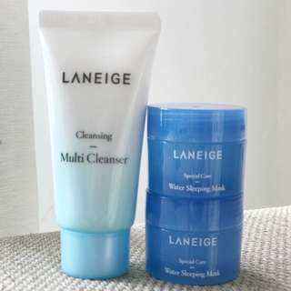 Laneige Multi Cleanser & Water Sleeping Mask