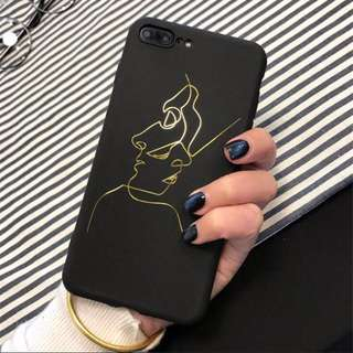 [PO] iphone two faces tumblr retro matte casing case