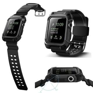 Instock JANSIN: Apple iwatch 42mm 38mm rugged armour case with strap