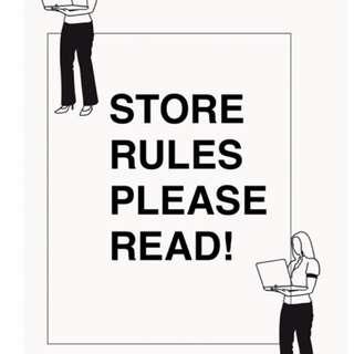 STORE RULES - c_yuudai