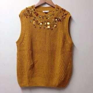 原價1299 全新 H&M 亮片珠珠毛衣背心
