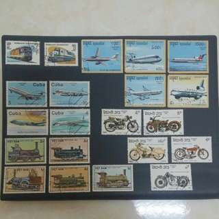 Vehicles collection-Train,Plane&Motor(21pcs)