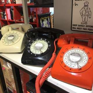 BRAND NEW ROTARY DIAL TELEPHONES- Now with redial function (1 year technical  warranty included)