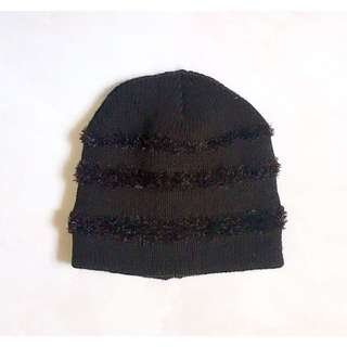 Black Winter Knit Cap