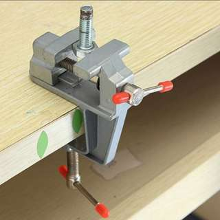 3.5 Inch Aluminum Small Jewelers Hobby Clamp On Table Bench Vise Mini Tool Vice