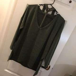 Khaki Green Top