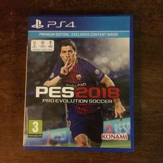 PS4 REGION 2 PES 2018 GAME