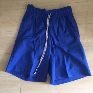 Cullote biru / celana pendek biru