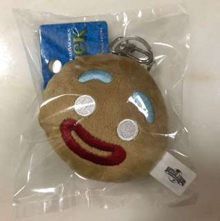 USS Shrek Gingerbread Man Head Keychain