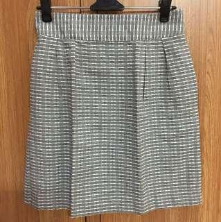 Grey Casual Skirt