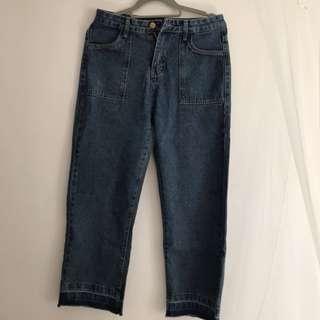 🚚 直筒寬版牛仔褲