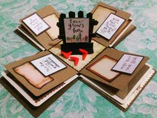 Explosion box / exploding box / gift box #11