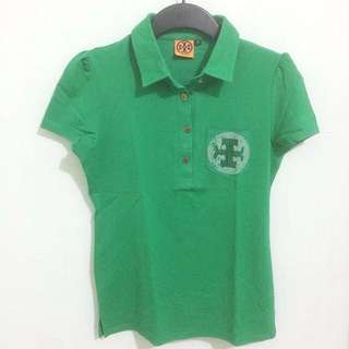 Tory Burch Green Polo Shirt