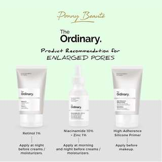 The Ordinary Products for Enlarged Pores Concern
