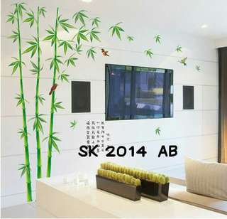 Wall Sticker Uk. 2x60x90 Motif Hutan Bambu