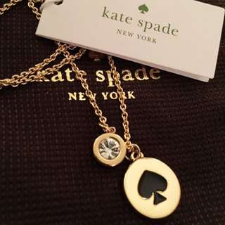 BNWT Authentic Kate Spade Brand Gold Necklace with Black Spade. Great for Christmas.