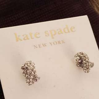 BN Authentic Kate Spade brand Studs Silver Sailor's Knot Earrings. Great for Christmas