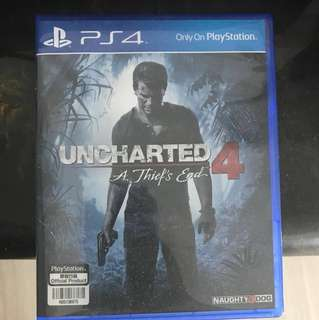 Uncharted 4 - PS4 (Region Free Disc) Used