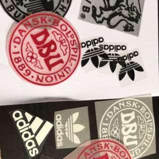 Custom heat press logo flock or vinyl