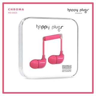 Happy Plugs In-Ear Headphones Cerise